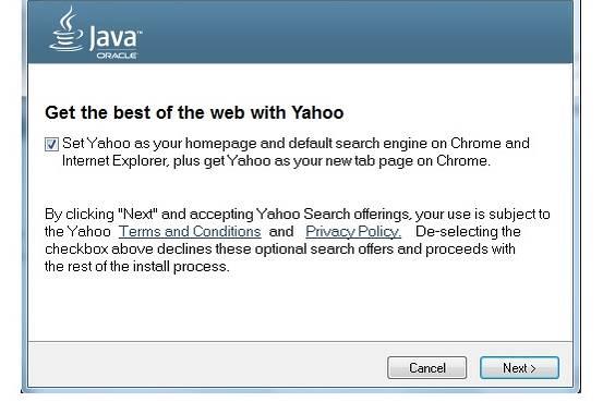 Oracle zdecydował zastąpić Ask za pomocą Yahoo! w najnowszej aktualizacji snapshot