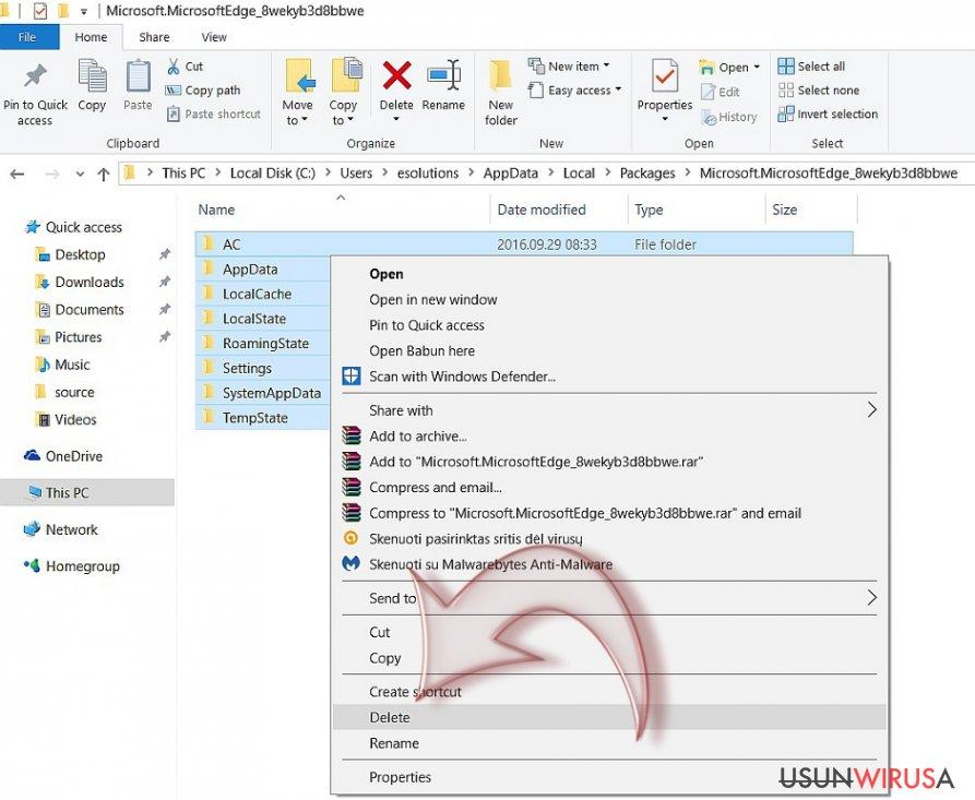 Jak zresetować Microsoft Edge? snapshot
