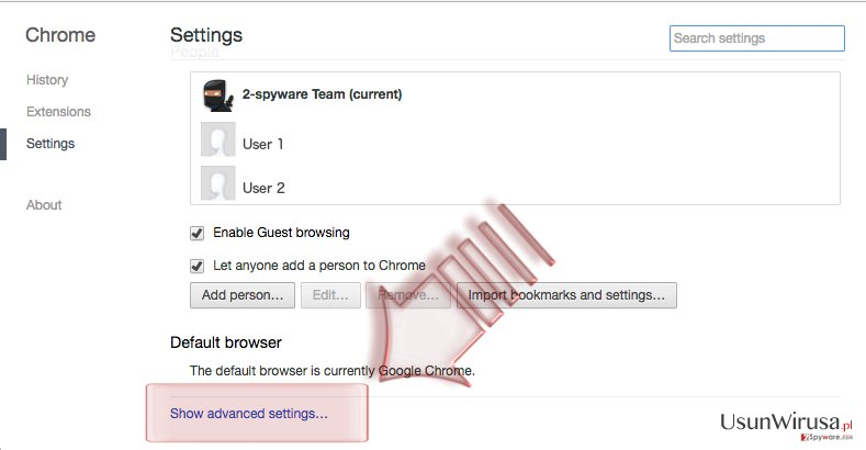 Jak zresetować Google Chrome? snapshot