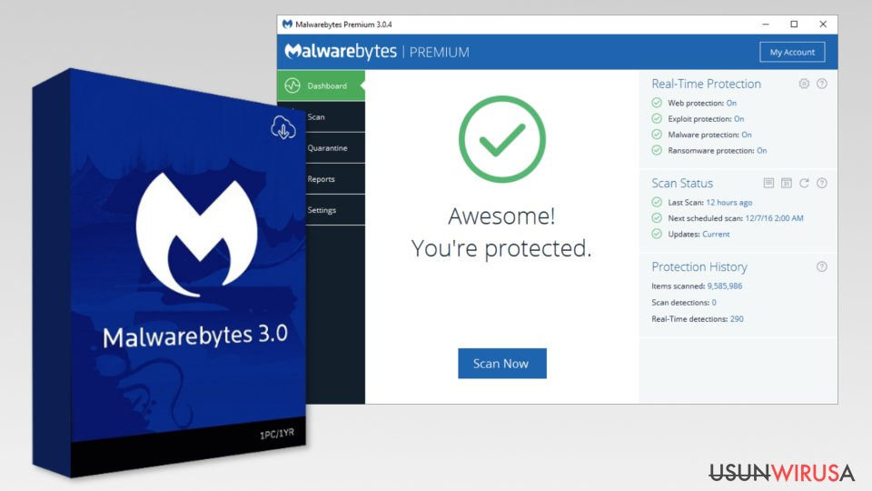 The image of Malwarebytes 3.0