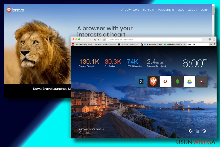 Printscreen of Brave browser
