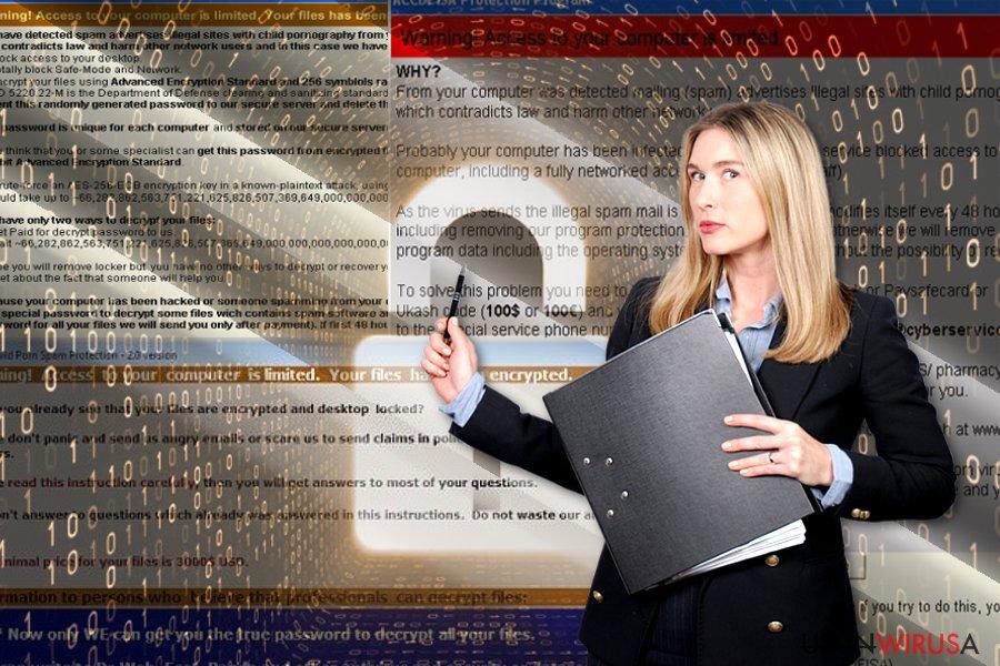 Wirus ransomware ACCDFISA v2.0 snapshot