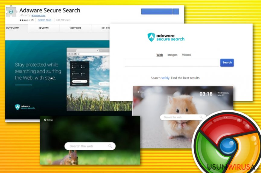 Wirus Adaware secure search