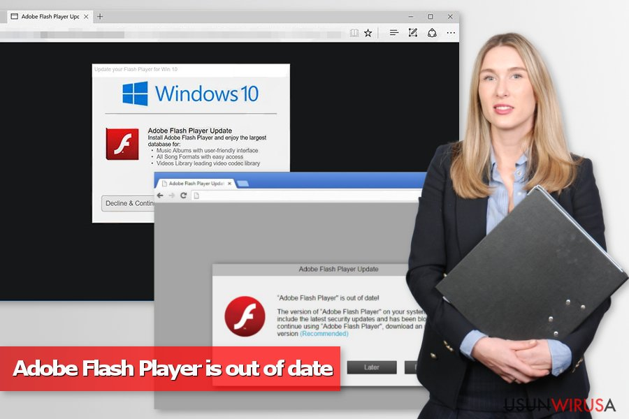 Wyskakujące okienka Adobe Flash Player is out of date