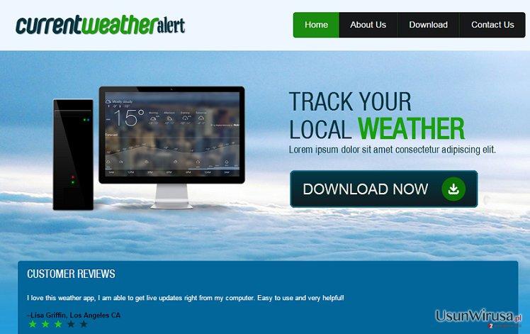 Reklamy Current Weather Alert snapshot