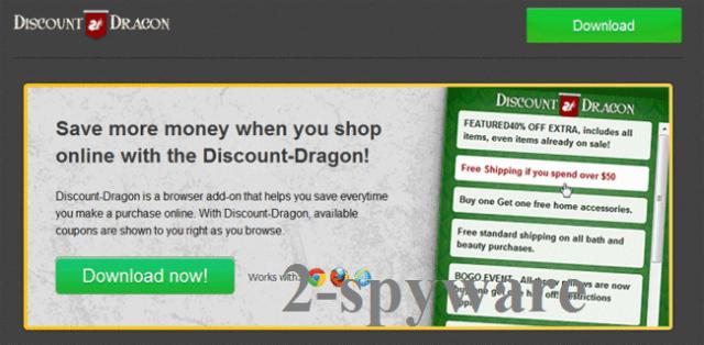 Wirus 'Ads by Discount Dragon' snapshot