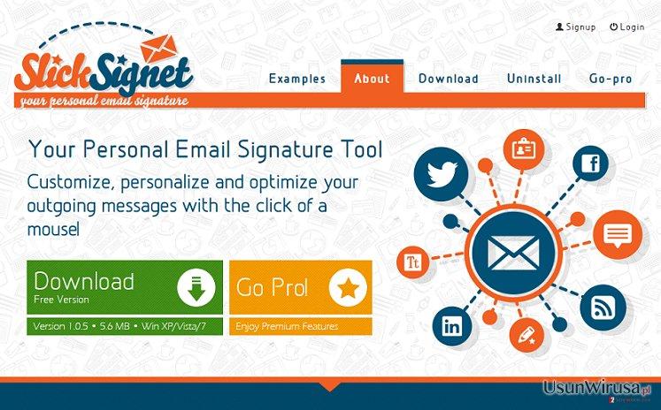 Reklamy SlickSignet snapshot