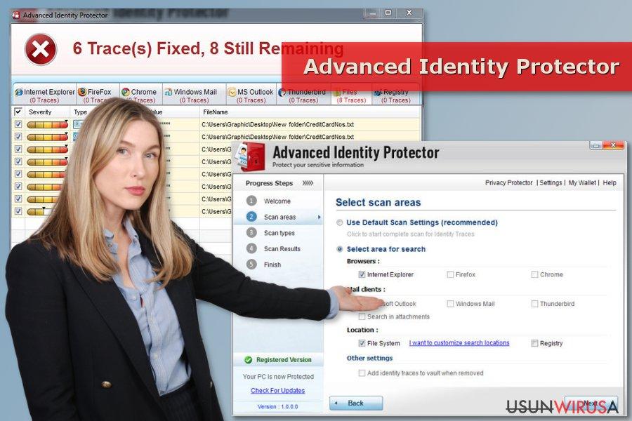 Skan programu Advanced Identity Protector