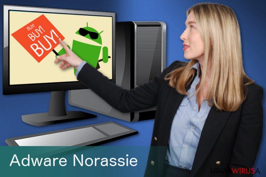 Niepożądana aplikacja Adware Norassie