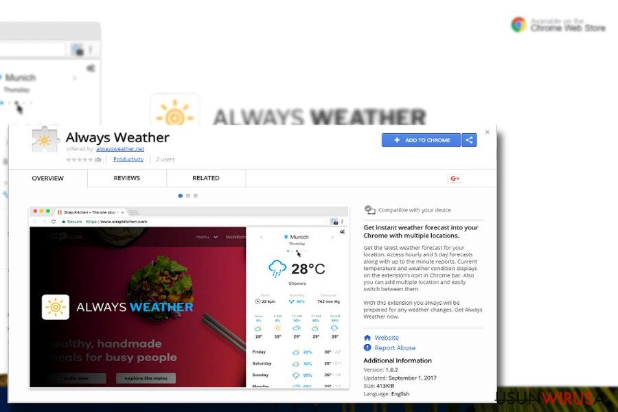 Obrazek przedstawiający wtyczkę Always Weather