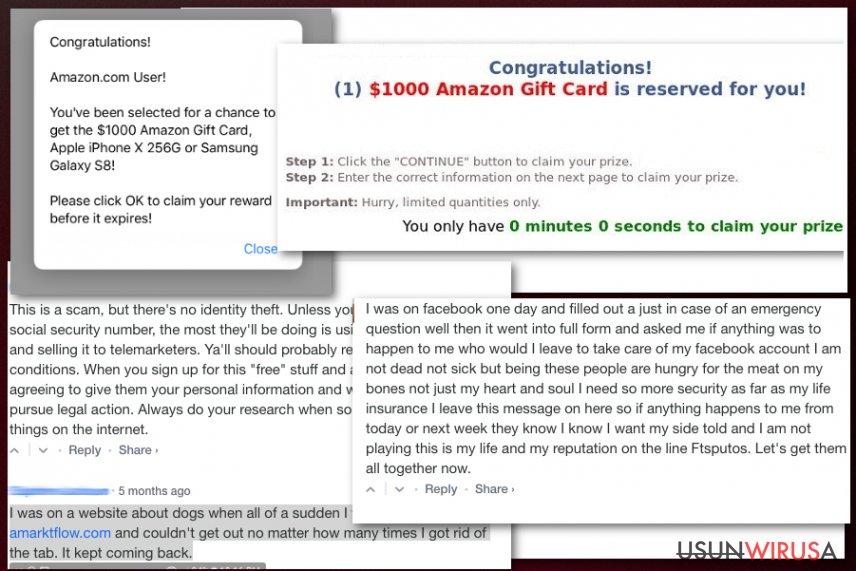 Fałszywa kampania z nagrodami Amarktflow