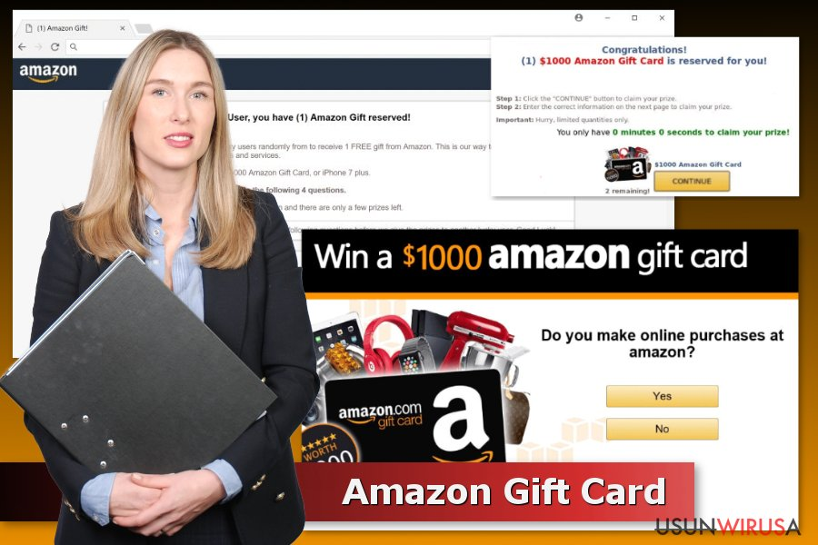 Przykładowe oszustwa typu Amazon Gift Card