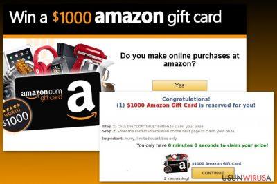 Przykład wirusa Amazon Gift Card
