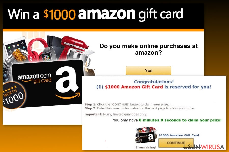 Image of Amazon Gift Card virus