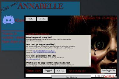 Obrazek wirusa Annabelle