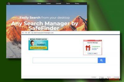 Przeglądarka po ataku Any Search Managera