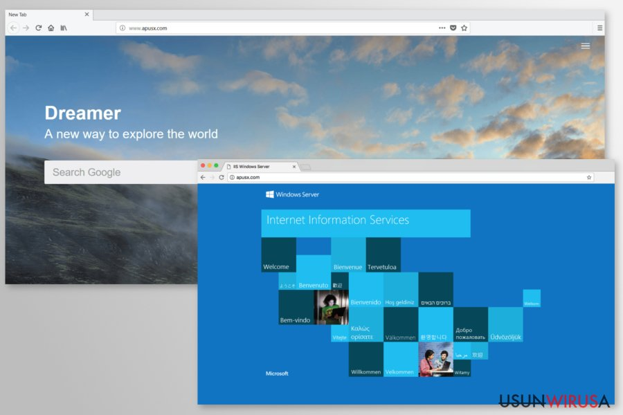 Examples of Apusx redirects
