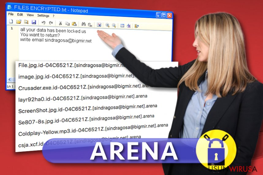 Wirus ransomware Arena