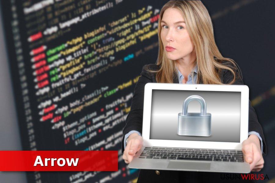Obrazek przedstawiający ransomware'a Arrow