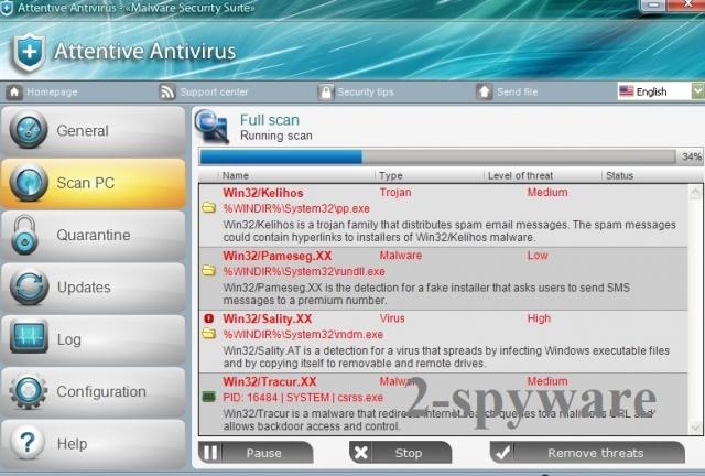 Attentive Antivirus snapshot
