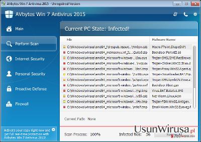 AVbytes Win 7 Antivirus 2015 snapshot