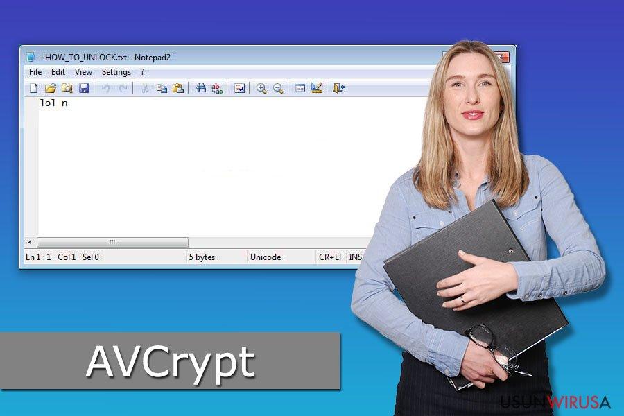 Wirus ransomware AVCrypt