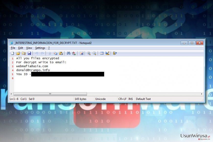 Wirus ransomware Azer