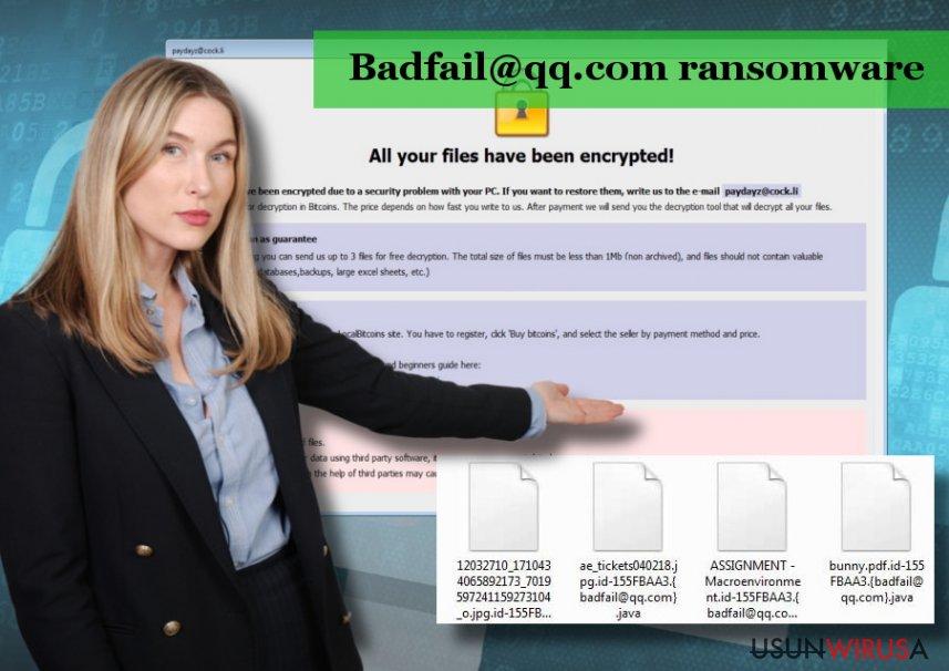 Wirus Badfail@qq.com jest odmianą ransomware'a Arrow