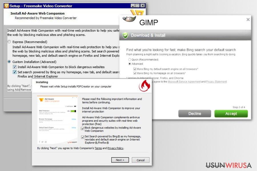 Wirus Bing Redirect snapshot