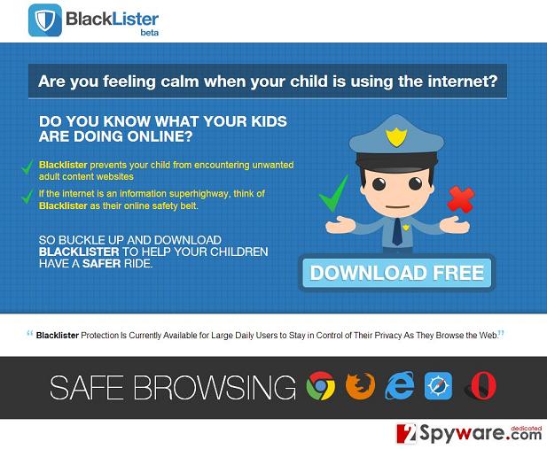 Reklamy BlackLister snapshot