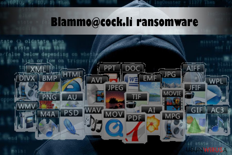 Blammo@cock.li ransomware virus encrypts data