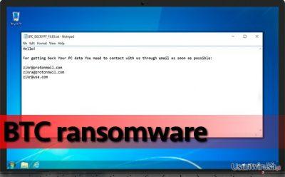 Oprogramowanie BTC na zainfekowanym komputerze