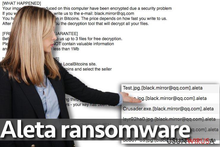 Wirus ransomware Aleta