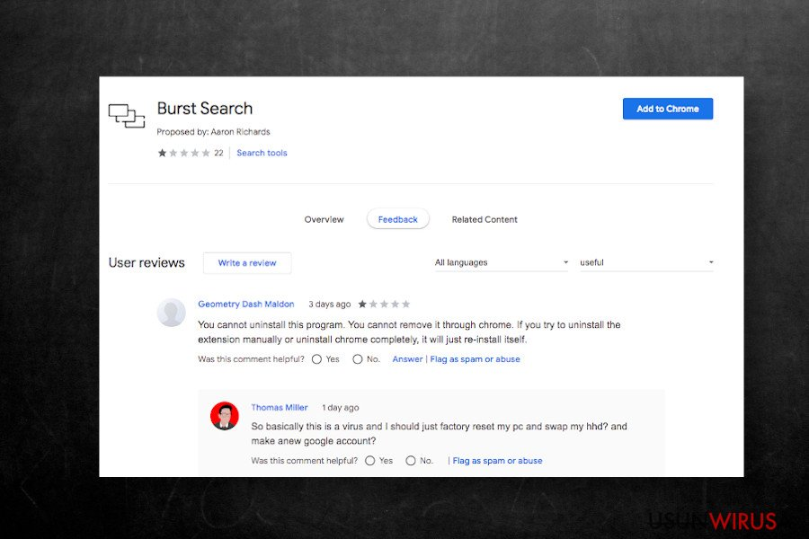 Rozszerzenie Burst Search