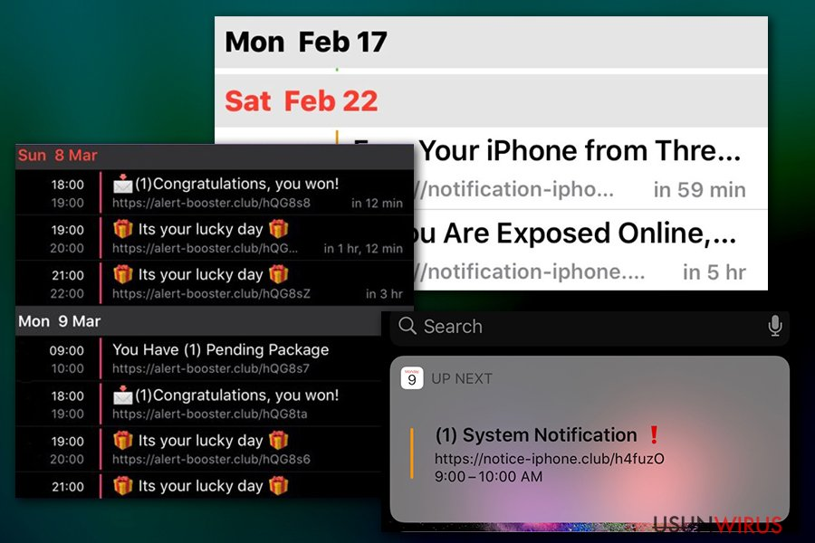 Powiadomienia wirusa Calendar