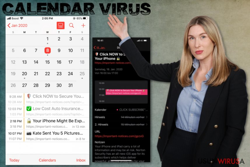 Wirus Calendar na iPhone'a