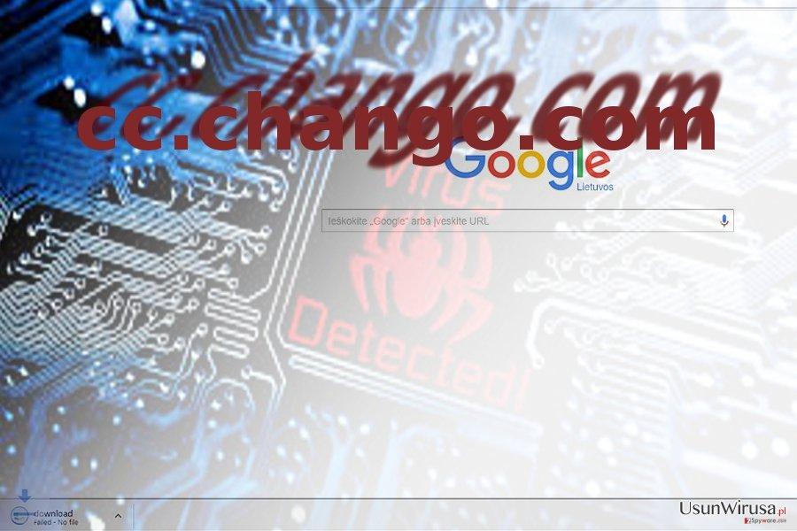 the picture illustrating  cc.chango.com virus