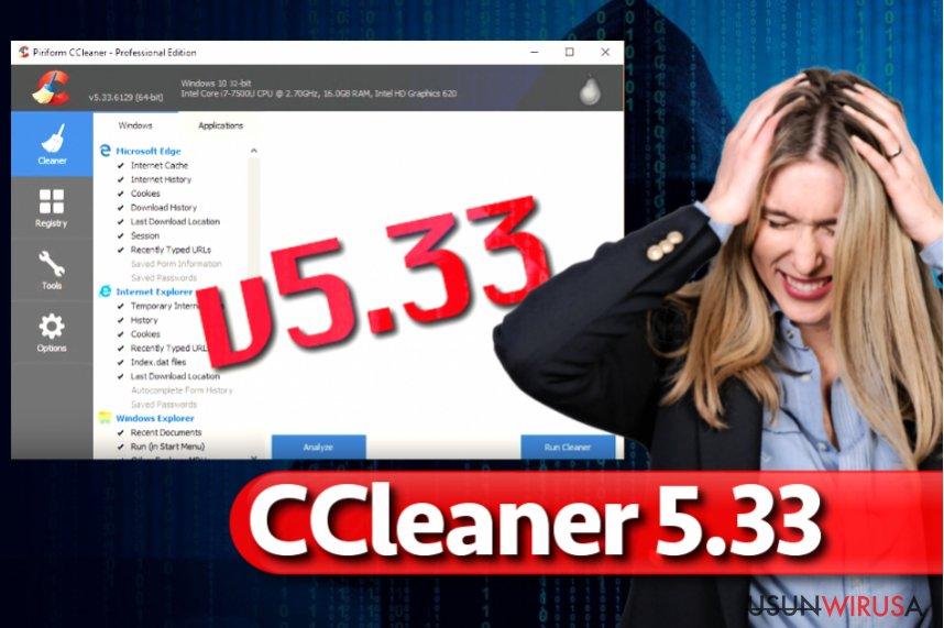 Malware CCleaner 5.33