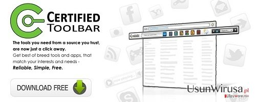Certified Toolbar snapshot