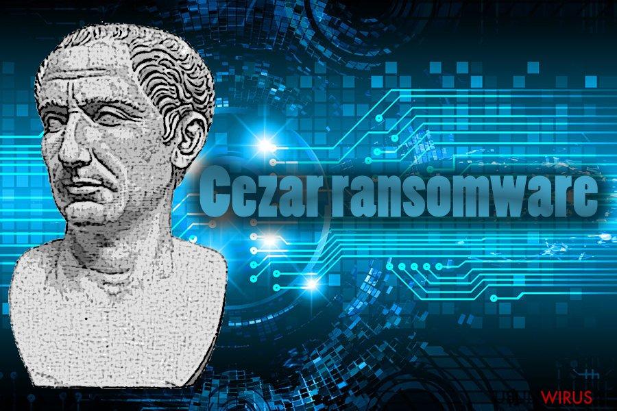 Wirus ransomware Cezar snapshot