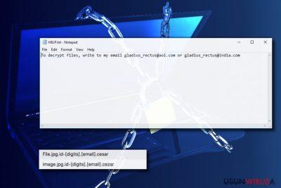 Wirus ransomware Cezar