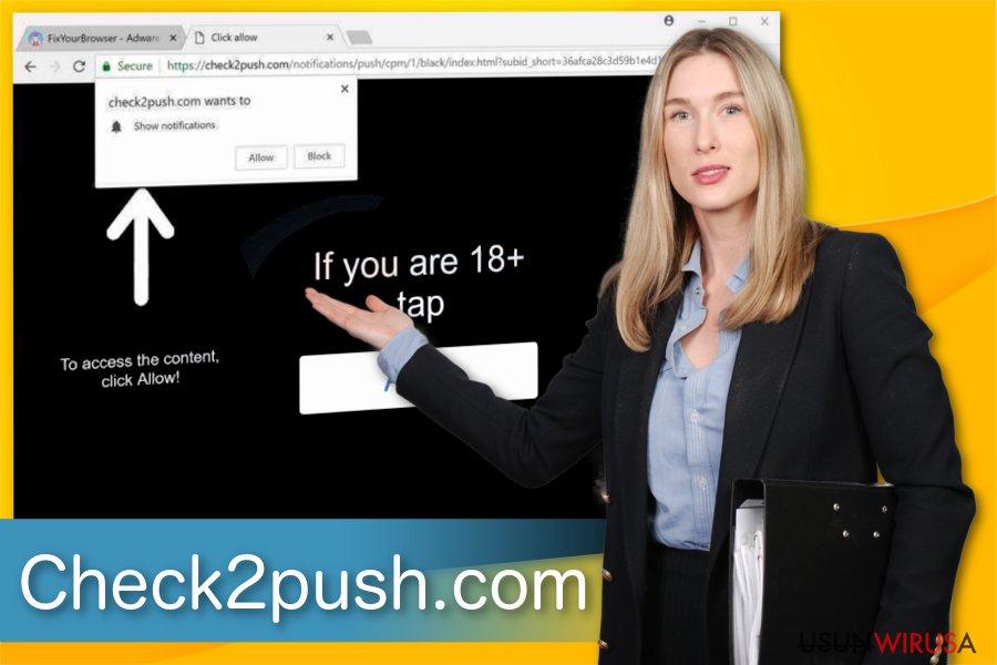 Ilustracja adware'a Check2push.com