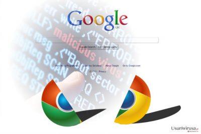 Obrazek przedstawiający wirusa przekierowań Chrome
