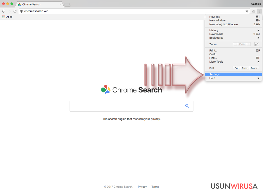 Wirus Chromesearch.win snapshot