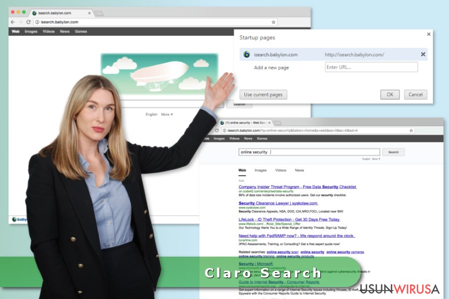 Wirus Claro Search snapshot