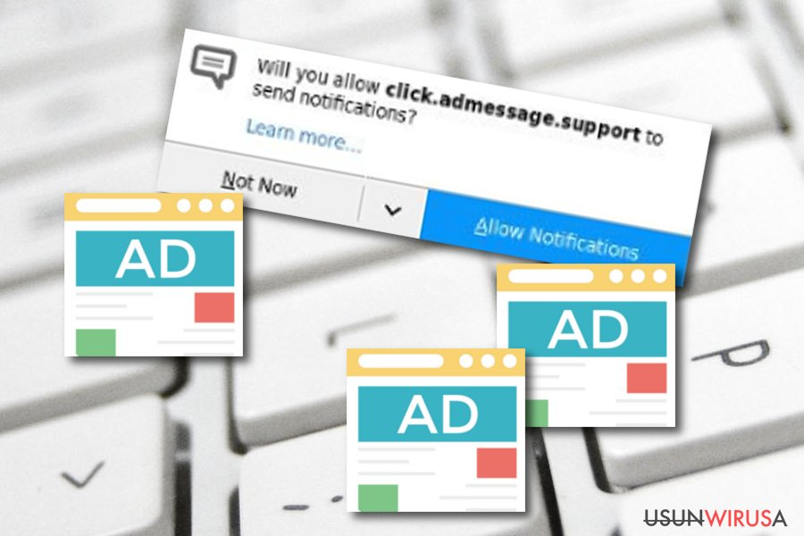 adware Click.admessage.support