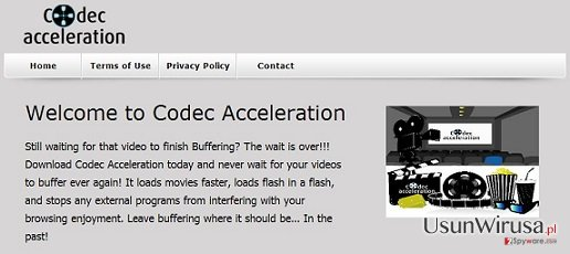Adware Codec Acceleration snapshot