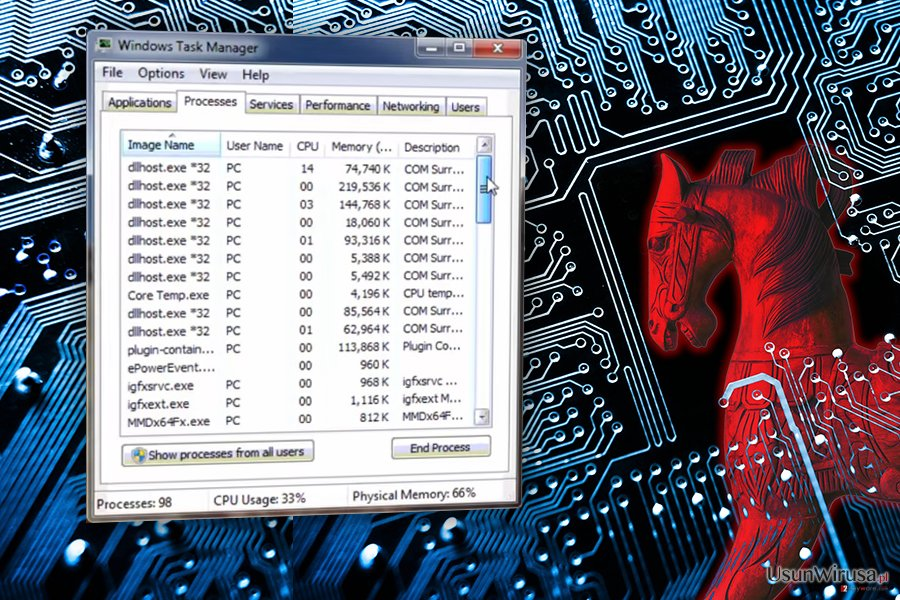 Wirus COM surrogate snapshot