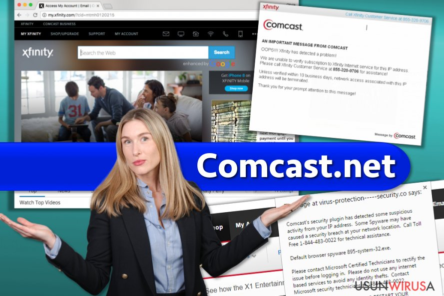 Comcast.net snapshot