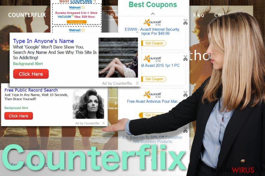 Obraz reklam wirusa Counterflix